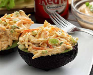 Buffalo Chicken Stuffed Avocado