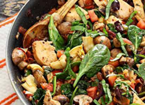 One-Skillet Paleo Mediterranean Chicken Recipe